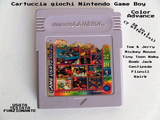 Cartuccia Game Boy Color / Advance. Multigioco 32 giochi in 1