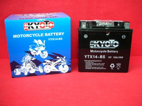 KYOTO BATTERIE AUTO-MOTO-SCOOTER-QUAD YTX14-BS € 55,00