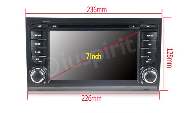 ANDROID 5.1 GPS 2 din autoradio navigatore Audi A4 S4 RS4 Seat Exeo - Foto 5