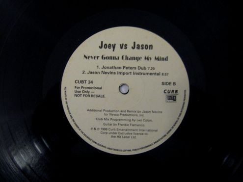 45 rpm (EP) del 1998-Joey Vs Jason-Never Gonna Change My Mind - Foto 2