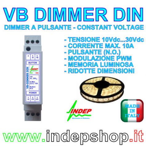 Dimmer 12V / 24V a pulsante per strisce led - made in Italy - Foto 3
