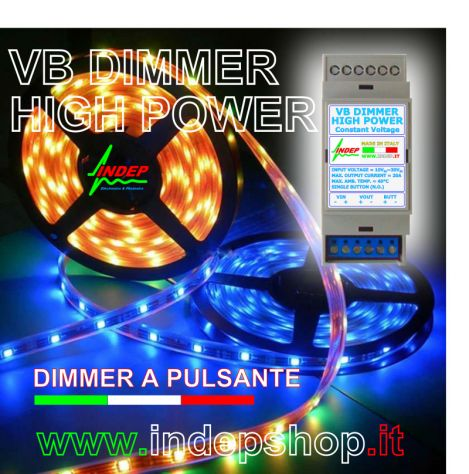 Dimmer a pulsante per strisce led - 20Amp 480W - Made in Italy