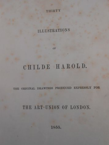 Lord BYRON::Childe harold O. GOLDSMITH :The Traveller.1855 - Foto 2