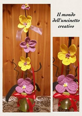 Orchidea all'uncinetto