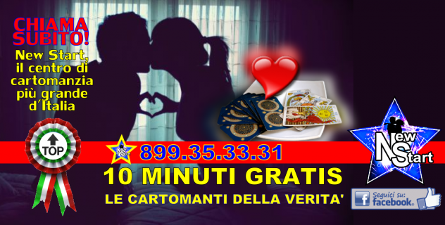 10 MINUTI GRATIS, LE CARTOMANTI DELLA NEW START 899.35.33.31 - astrologia - cartomanzia Ragusa