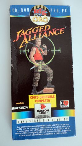 Jagged Alliance ITALIANO,PC (big games oro) vintage