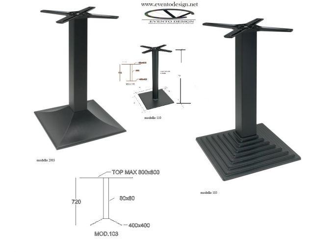 base per tavolo ristorante 80x80 h. 72 - Foto 2