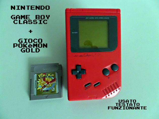 Game Boy Classic rosso + gioco Pokèmon Gold