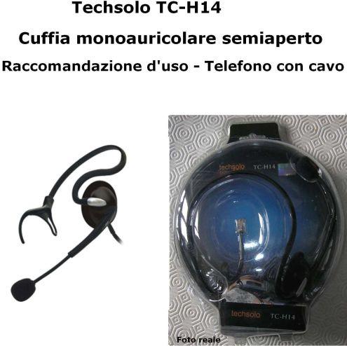 echsolo TC-H14 cuffie semiaperto cavo telefono microfono