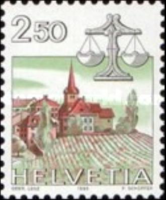 """Francobolli nuovi da collezione serie """"Zodiac"""" Svizzera - Foto 8"""