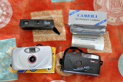 Lotto 6 macchine fotografiche 3 da 35 mm compatte, 2 da 110 mm da collezione