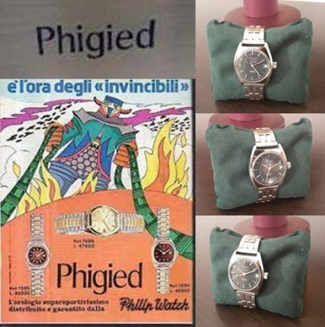OROLOGIO PHIGIED ANTILLE AUTOMATICO INCABLOC, SWISS MADE ANNI 60/70.