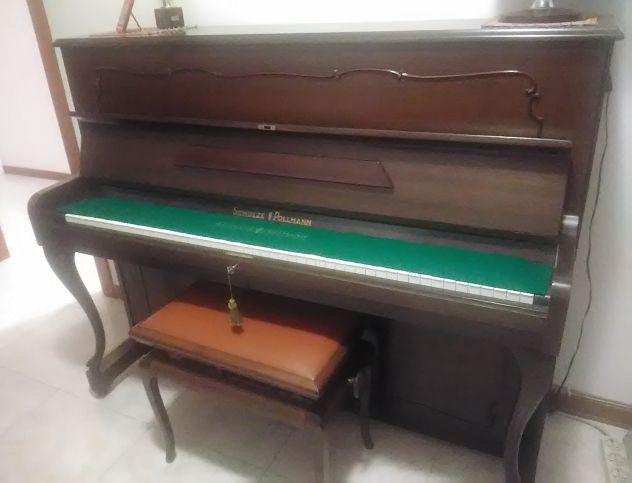 PIANOFORTE VERTICALE SCHULZE POLLMANN IN NOCE, ANNI '70 - Foto 2