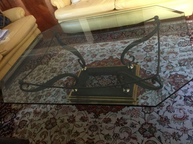 Offro Tavolo centro sala in ferro battuto/ vetro - Foto 3