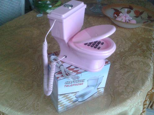 TELEFONO CON FILO A FORMA DI WC - Foto 3