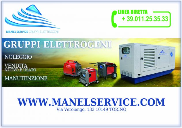 Noleggio generatori di corrente 10 KW silenziati, Padova