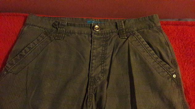 Pantaloni stoffa Owk grigi a quadri tasconi Tg 46 - NUOVI - Foto 2