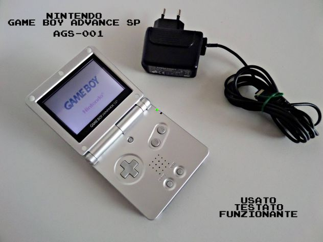 Game boy advance sp (grigio) AGS001 + caricabatterie