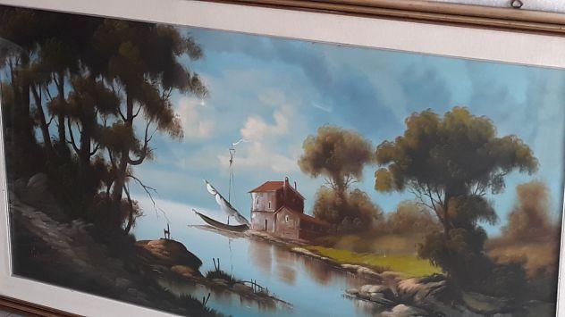 Quadro anni 50 olio su tela di 134x75