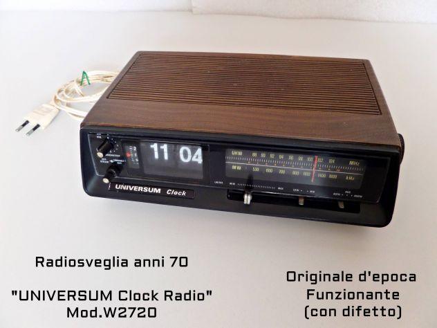 Radiosveglia anni 70, UNIVERSUM Clock Radio W2720