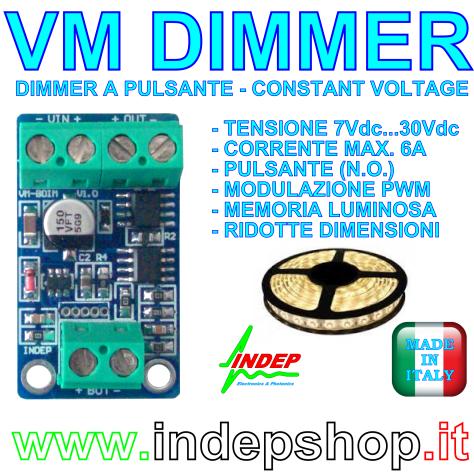VM Dimmer - varialuce per strisce led - 12/24V - 6A