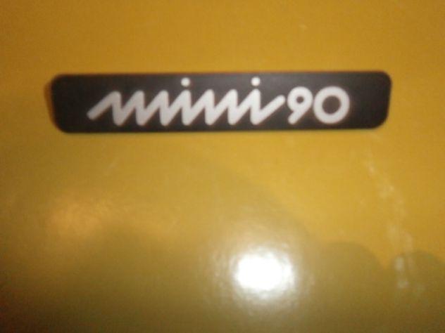Innocenti Mini 90 scritta targhetta posteriore ORIGINALE in metallo NUOVA