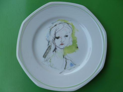 Piatto in porcellana Schonwald Le 4 stagioni di E. Treccani