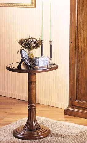 Tavolino tondo stile arte povera cod 10937