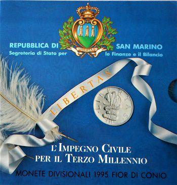 Rep. Di San Marino-Monete Divisionali FDC-anno 1995