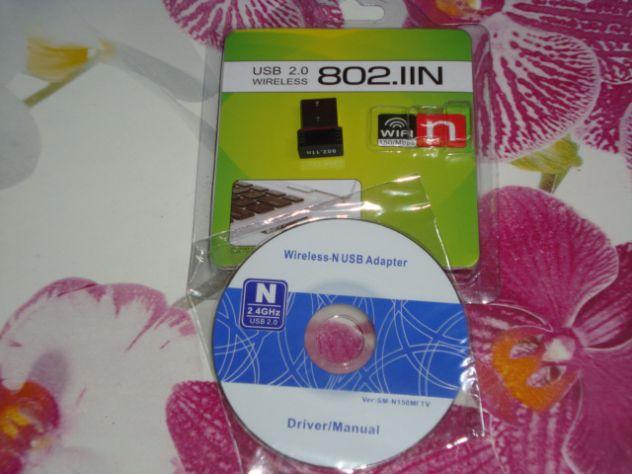 Mini scheda wireless USB 150 Mbps- Nuova
