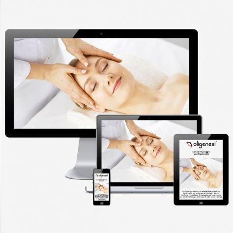 Video Corso Online di Massaggio Viso Rigenerante  www.oligenesi.it