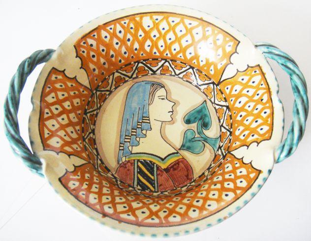 Orvieto-Ceramica smaltata dipinta a mano-anni '60-Lab. Ceramica S.C.O.-
