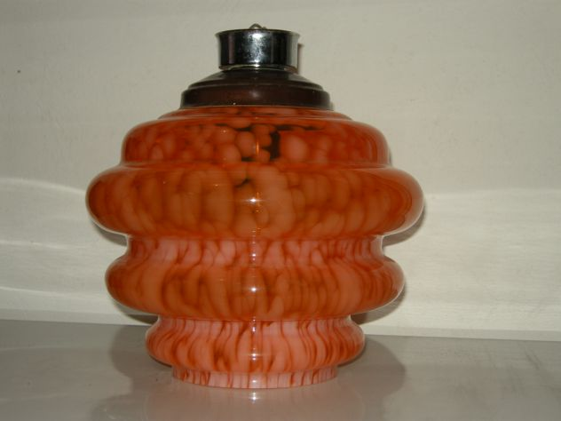 Lampadario Vintage in vetro. Pezzo unico