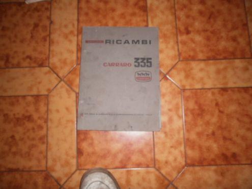 Trattore carraro 355 catalogo ricambi originale