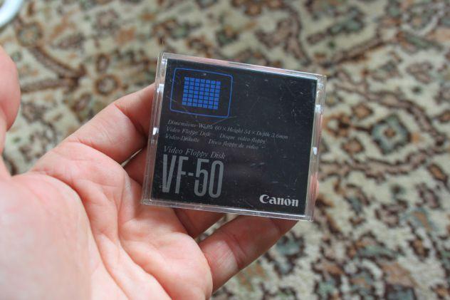 Retrocomputing Canon Video Recorder supporto VIDEO FLOPPY DISK