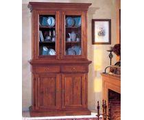 Credenza Con Vetrina Rustica : Libreria bassa vetrina credenza in legno massello stile arte