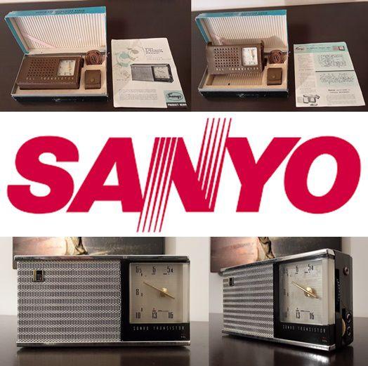 SANYO ALL TRANSISTOR RADIO, MODEL 6C-11, 6 TRANSISTOR, 1958.