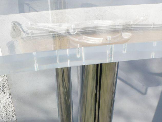 Tavoli plexiglass con gambe cromate design expo - Foto 7