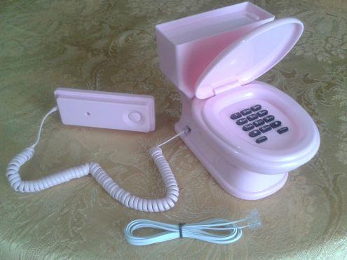 TELEFONO CON FILO A FORMA DI WC - Foto 2