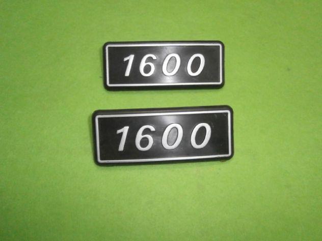 Scritte loghi targhette posteriori Fiat 131 1600  NUOVE - Foto 4