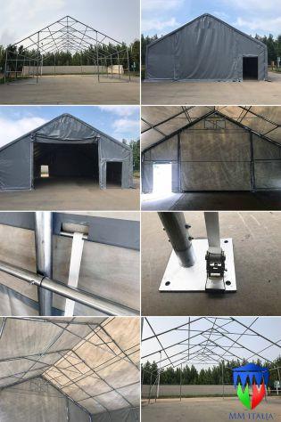 COPERTURE PER MEZZI AGRICOLI INDUSTRIALI IN PVC 10 X 16 X 5,7 POTENZA BASILICATA - Foto 10