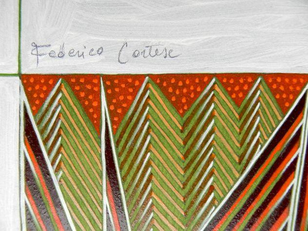 Dipinto ad olio su carta, astratto - Foto 5