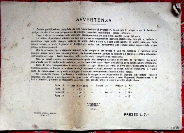 PARAVIA: GUIDA PER LO STUDIO DELLA COMPOSIZIONE DECORATIVA 1934 - Foto 2