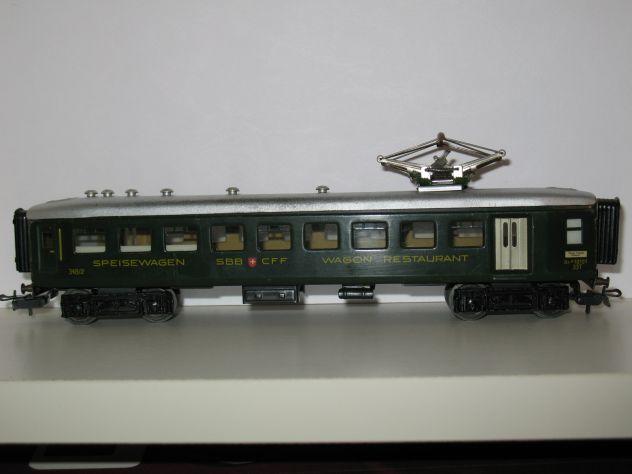 Marklin H0 348 2 (4016) Carrozza Ristorante Ferrovie Svizzere - Foto 2