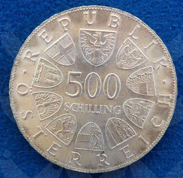 0086ccff67 AUSTRIA 1980 Moneta 500 Schilling Argento FDC
