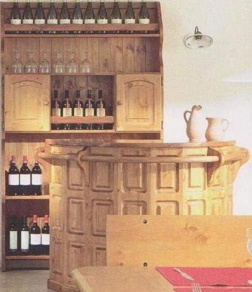 Mobili rustici bancone bar con piattaia prezzo fabbrica for Compro arredamento usato