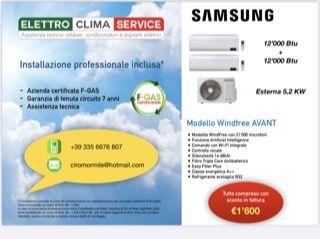 Offerta Installazione condizionatore Dual Samsung con SCONTO IN FATTURA