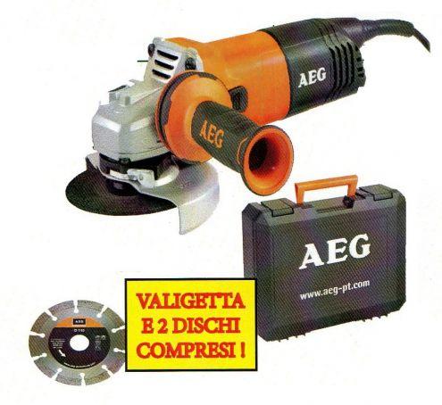 Smerigliatrice WS 9-115 set Aeg - Cardelli