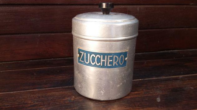 A259 alluminio vecchio barattolo zucchero d'epoca