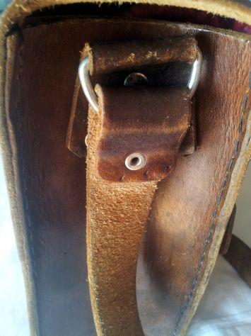 Borsa lavoro/portadocumenti in pelle antichizzata (Unisex) - Foto 9